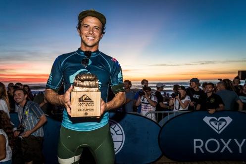 Julian Wilson (AUS) Winner of the Quiksilver Pro France 2018