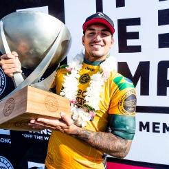 Gabriel Medina (BRA) 2X World Champion and winner of 2018 Billabong Pipe Masters at Pipeline, Oahu, Hawaii, USA.